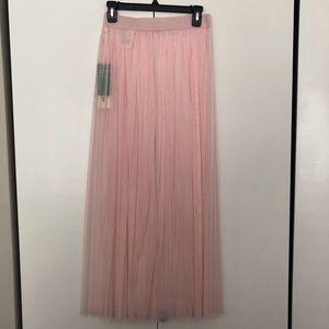 H&M Coachella Pink Tulle Skirt